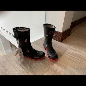BRAND NEW W Box Dog print Rainboots
